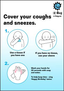 ebug coughs and sneezes poser advice