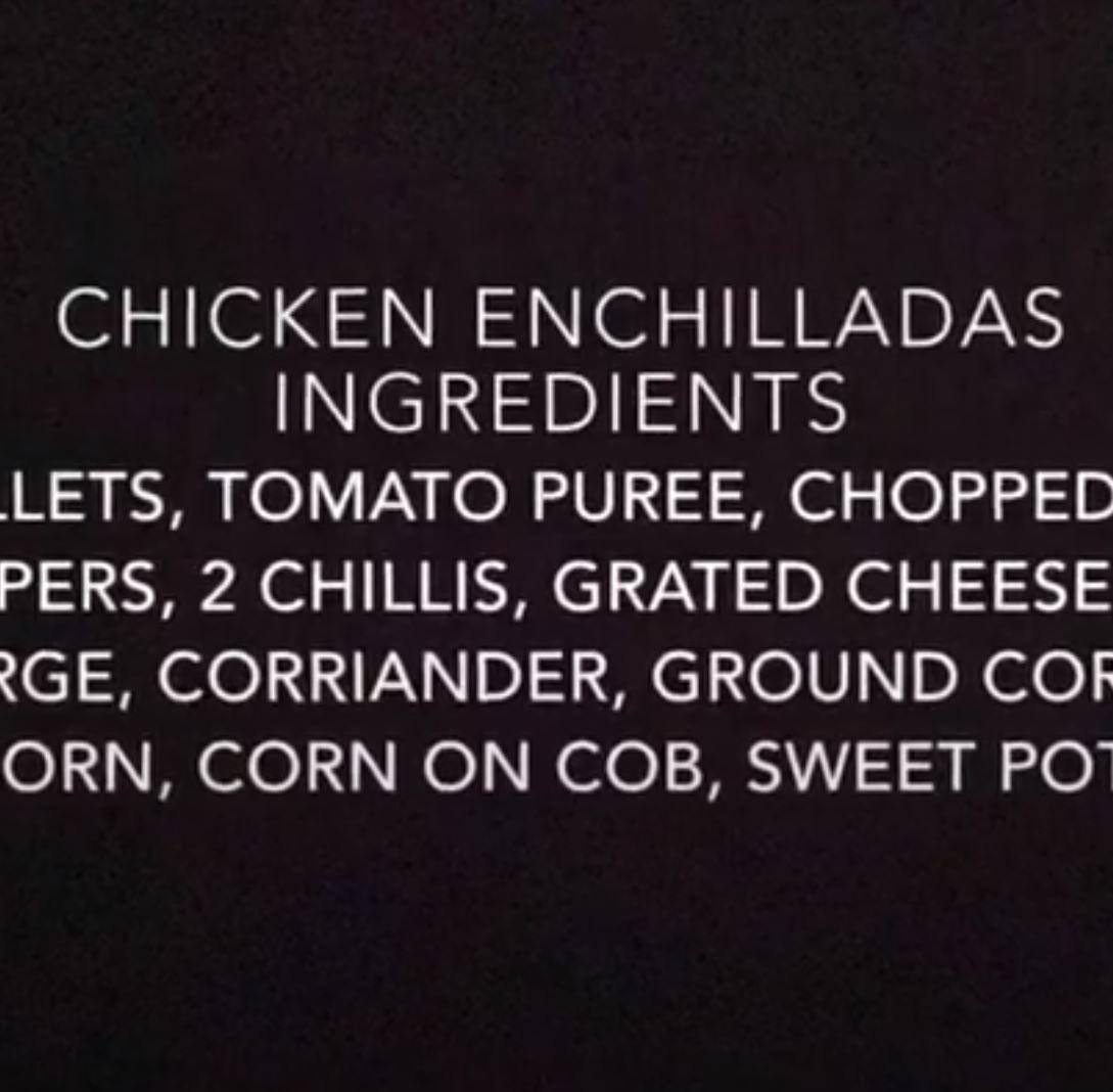 NICOLA'S NUTRITION WEEK 2 CHICKEN ENCHILADA
