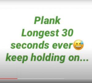 Nicola Physical Activity 30 sec challenge