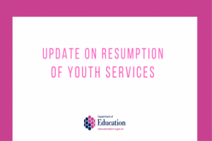 Update on resumption of youth services April 8th 2021