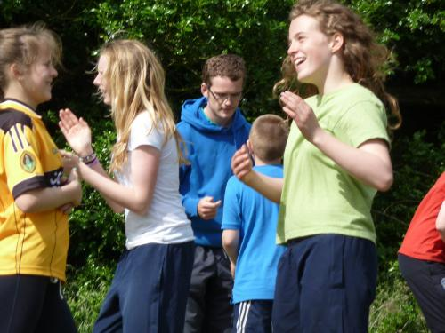 adventure camp young people dancing